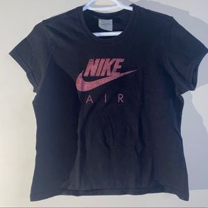 Nike Graphic Glittered Shirt Size Medium